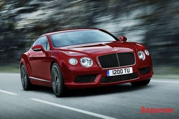 Bentley Continental GT V8 side-front view
