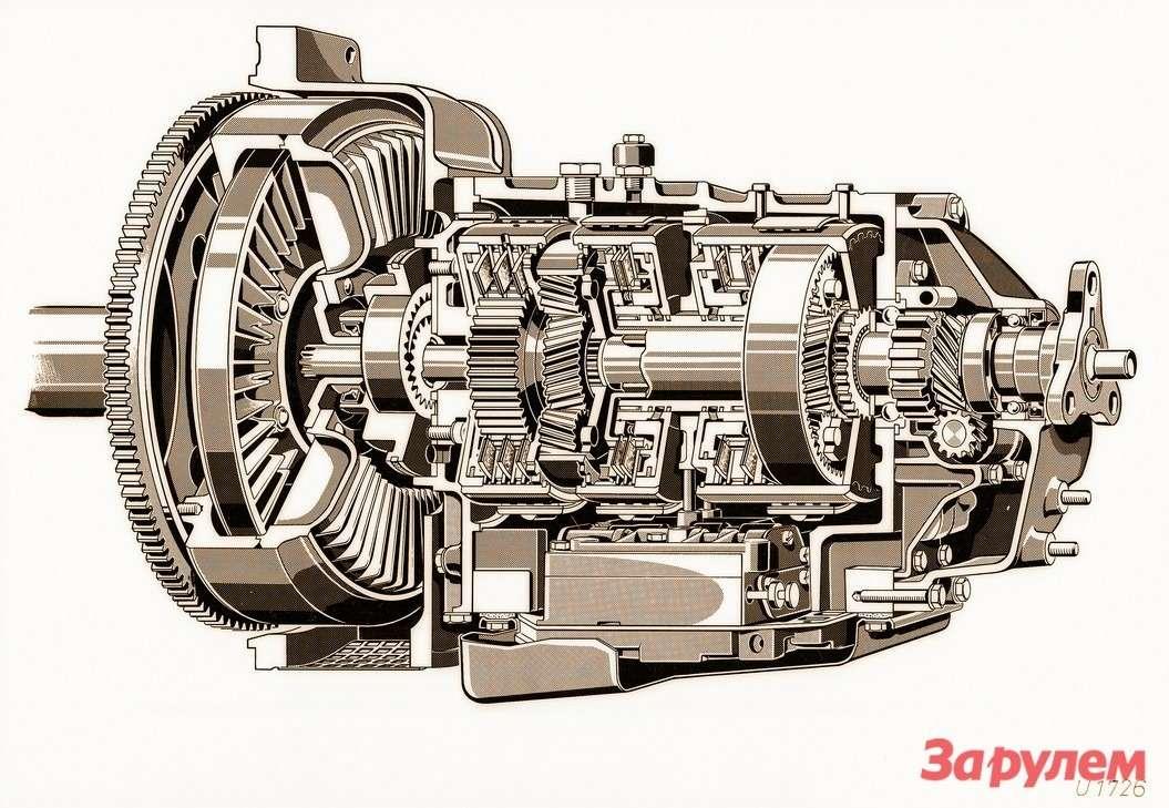 Первые автоматические трансмиссии Mercedes-Benz оснащались гидромуфтой, ане гидротрансформатором. Принципиальное отличие— неспособность муфты изменять передаваемый крутящий момент поднагрузкой. Коэффициэнт трансформации гидромуфты— единица