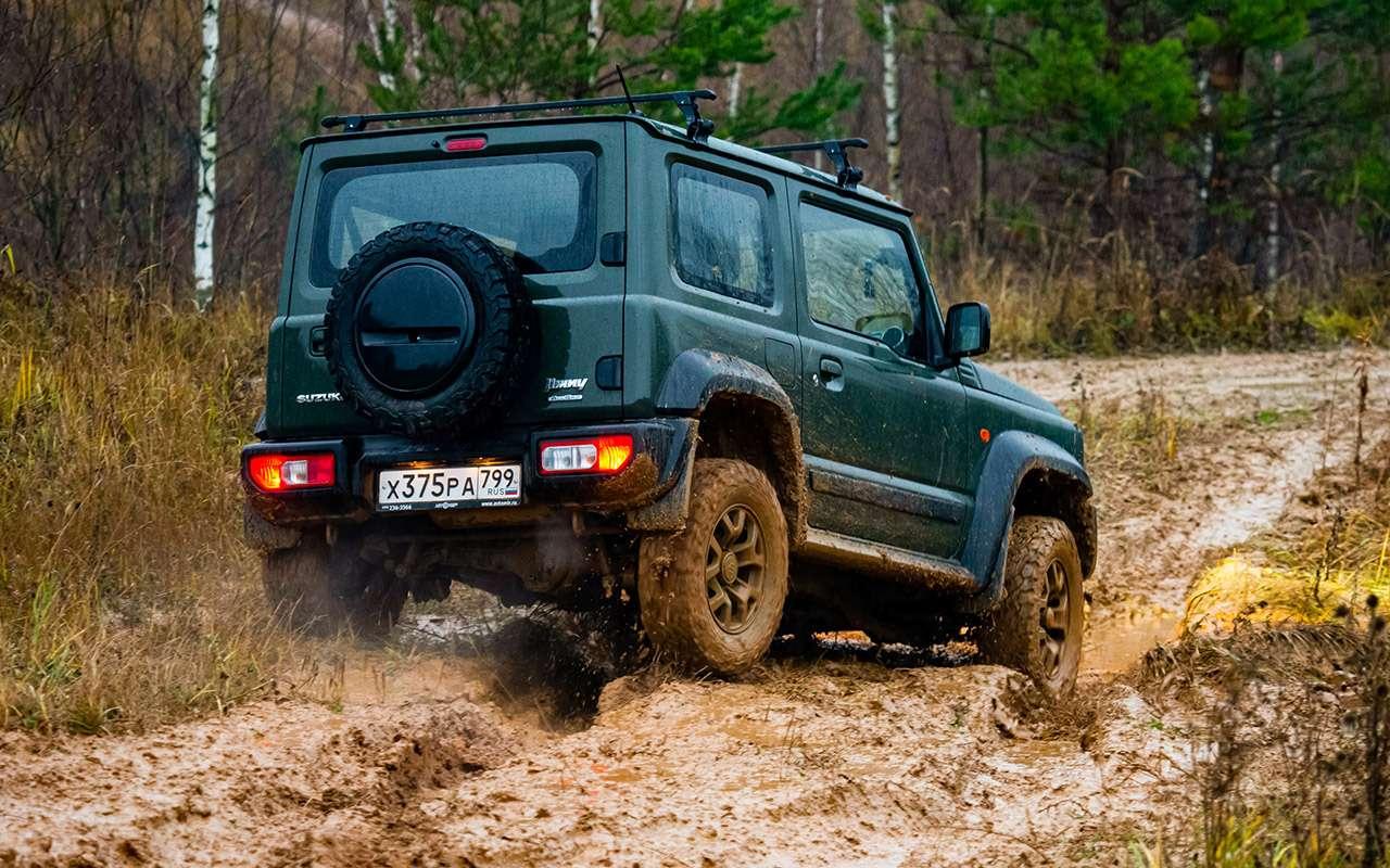 Тест-драйв легенд бездорожья: Lada 4x4, Suzuki Jimny, Jeep Wrangler— фото 1089432