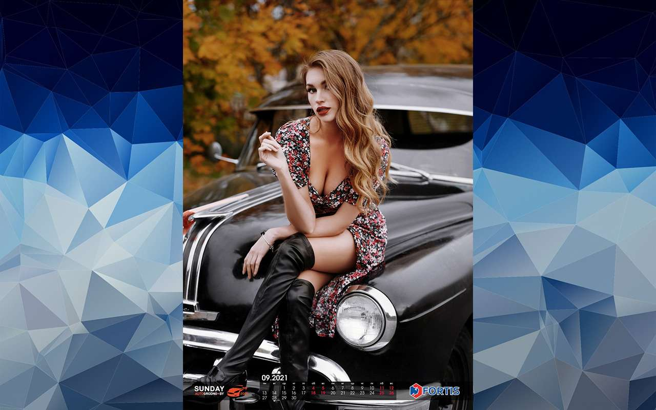 Жаркий календарь-2021: белорусские девушки иредкие машины— фото 1213055