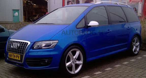 Audi minivan rendering side-front view
