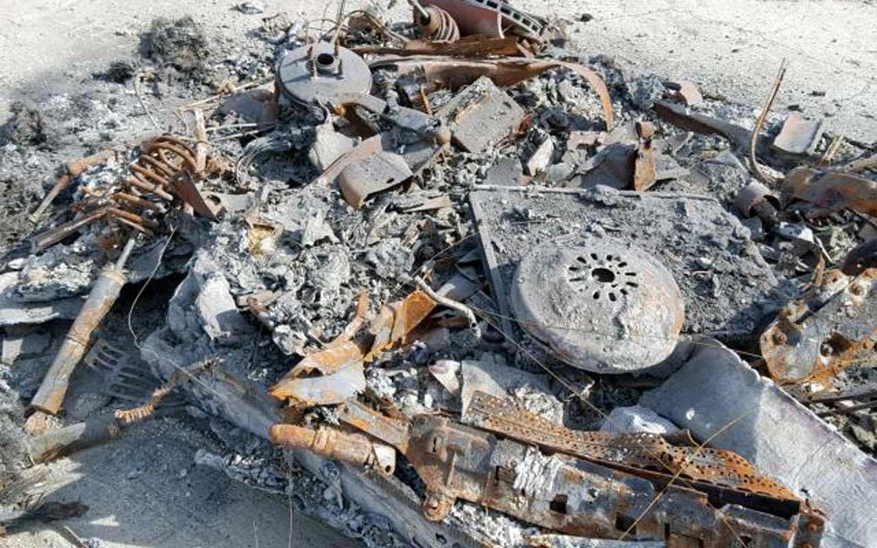 Жадность 80lvl: сгоревший дотла Ferrari выставлен напродажу— фото 1002285