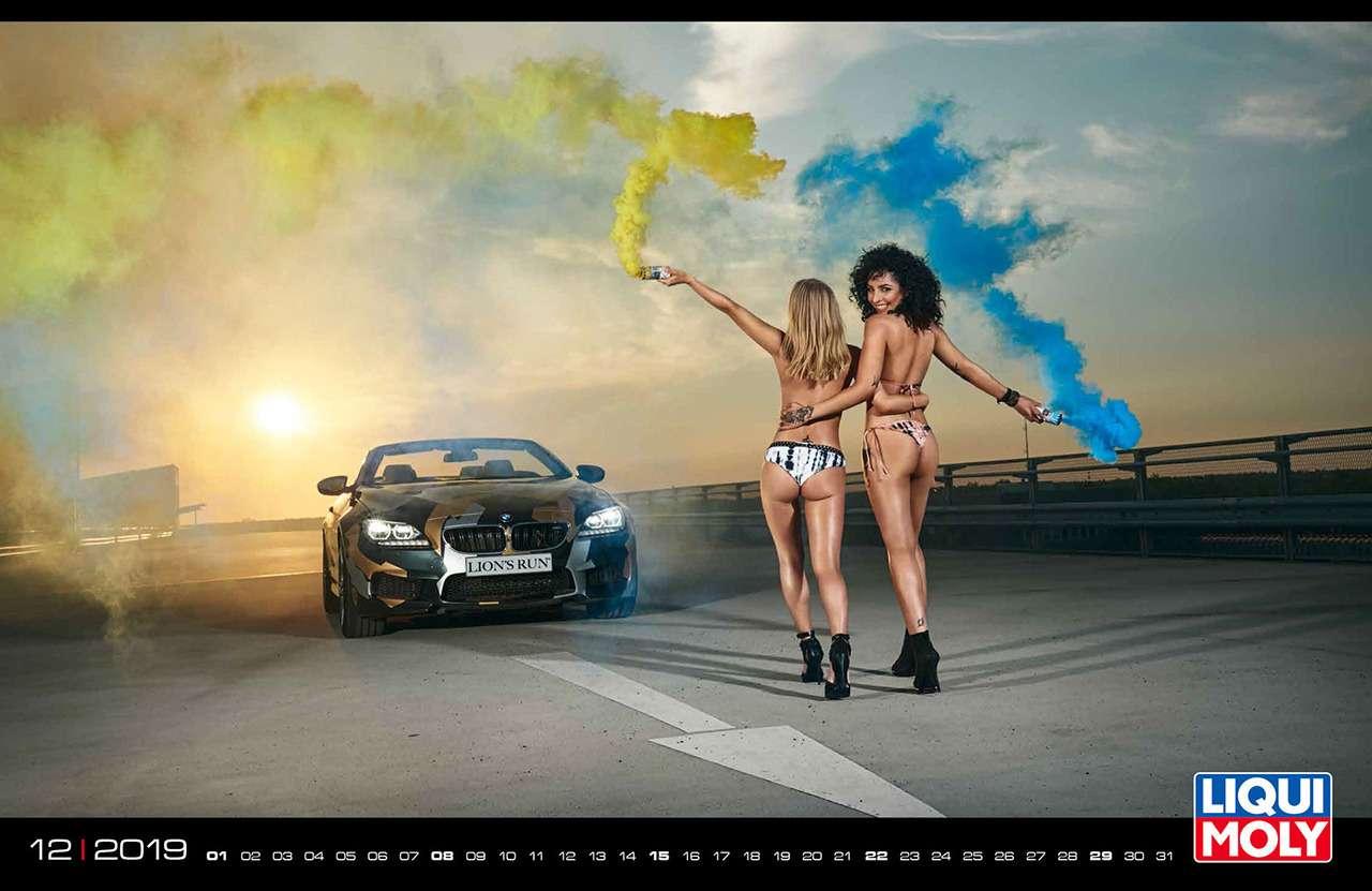 Девушки игорячие спорткары: Liqui Moly показала новый календарь— фото 904955