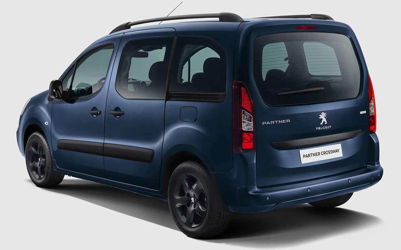Новый Peugeot Partner Crossway: три куба вбагажнике, дизель, автомат— фото 1247158