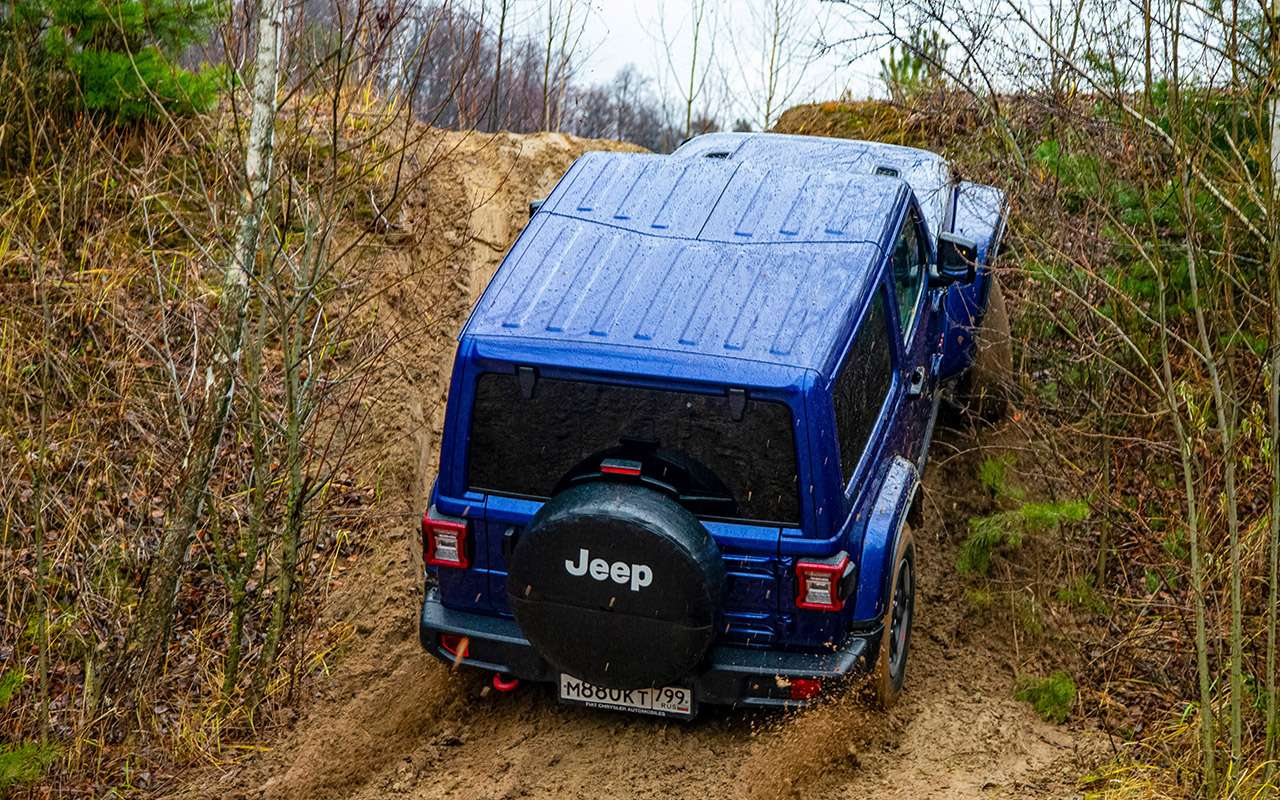 Тест-драйв легенд бездорожья: Lada 4x4, Suzuki Jimny, Jeep Wrangler— фото 1089451