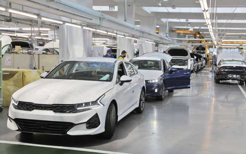 Началось производство седана Kia K5в России