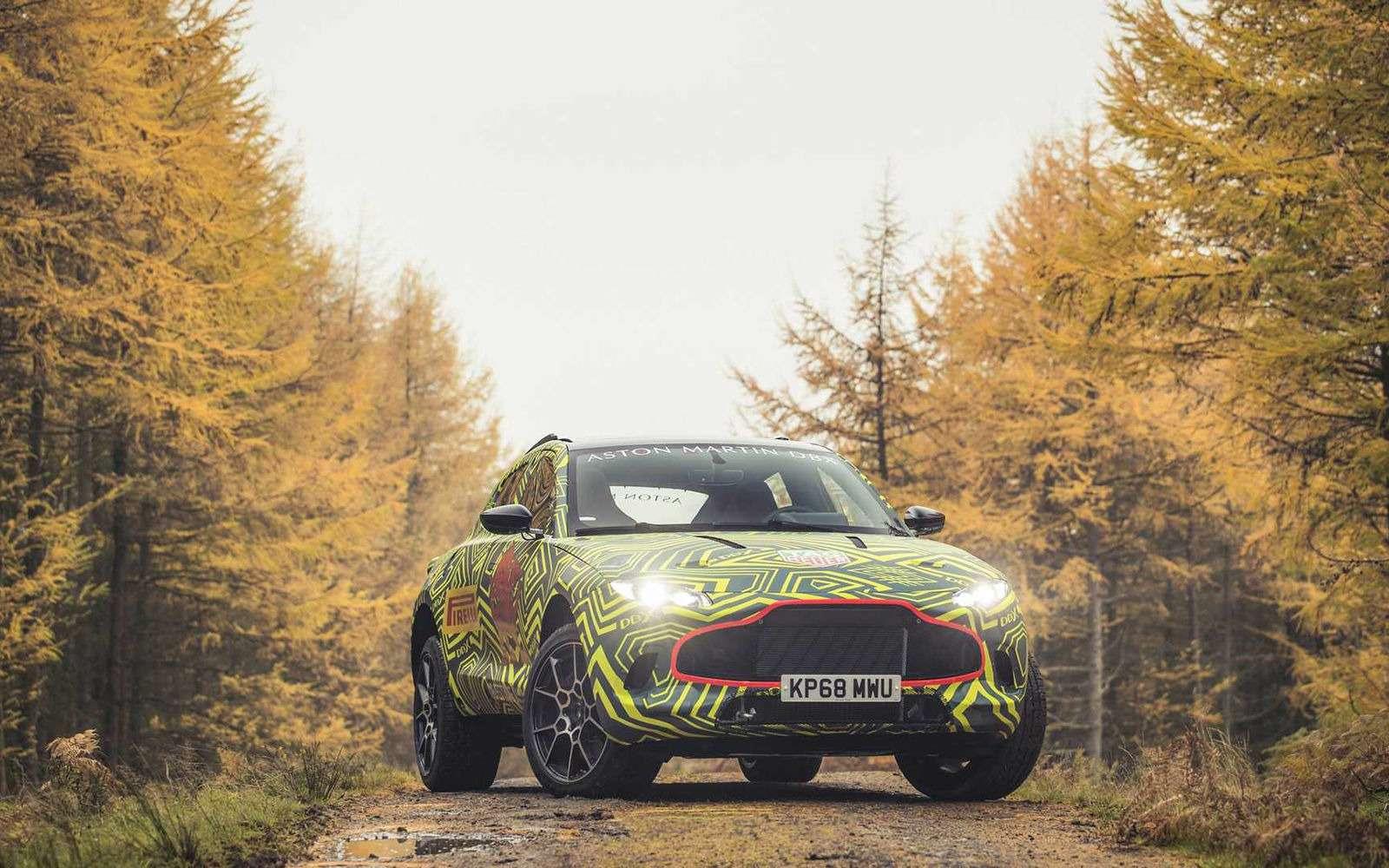 Aston Martin показал свой кроссовер на фото и видео — фото 922769