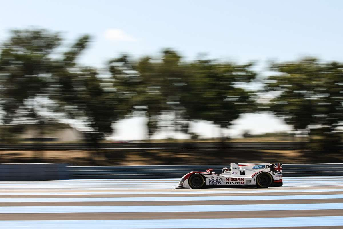 Luciano Bacheta (GBR)/ Mark Shulzhitskiy (RUS) drivers ofcar #28 LMP2 Greaves Motorsport (GBR) Zytek Z11SN-Nissan— 4Hours ofPaul Ricard atPaul Ricard Circuit— LeCastellet— France