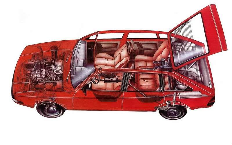 Рентген-схема 41-го Москвича