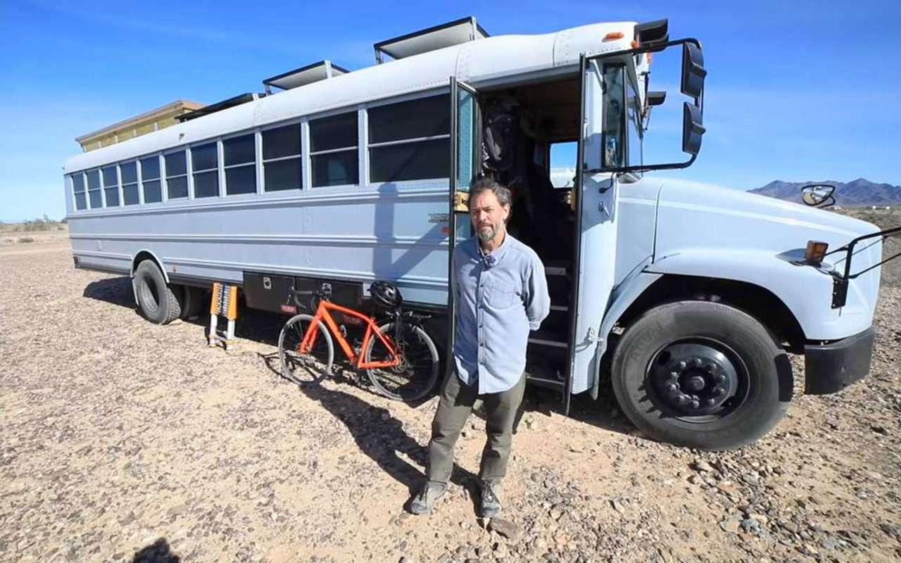 Как построить гигантский автодом— берем школьный автобус!..