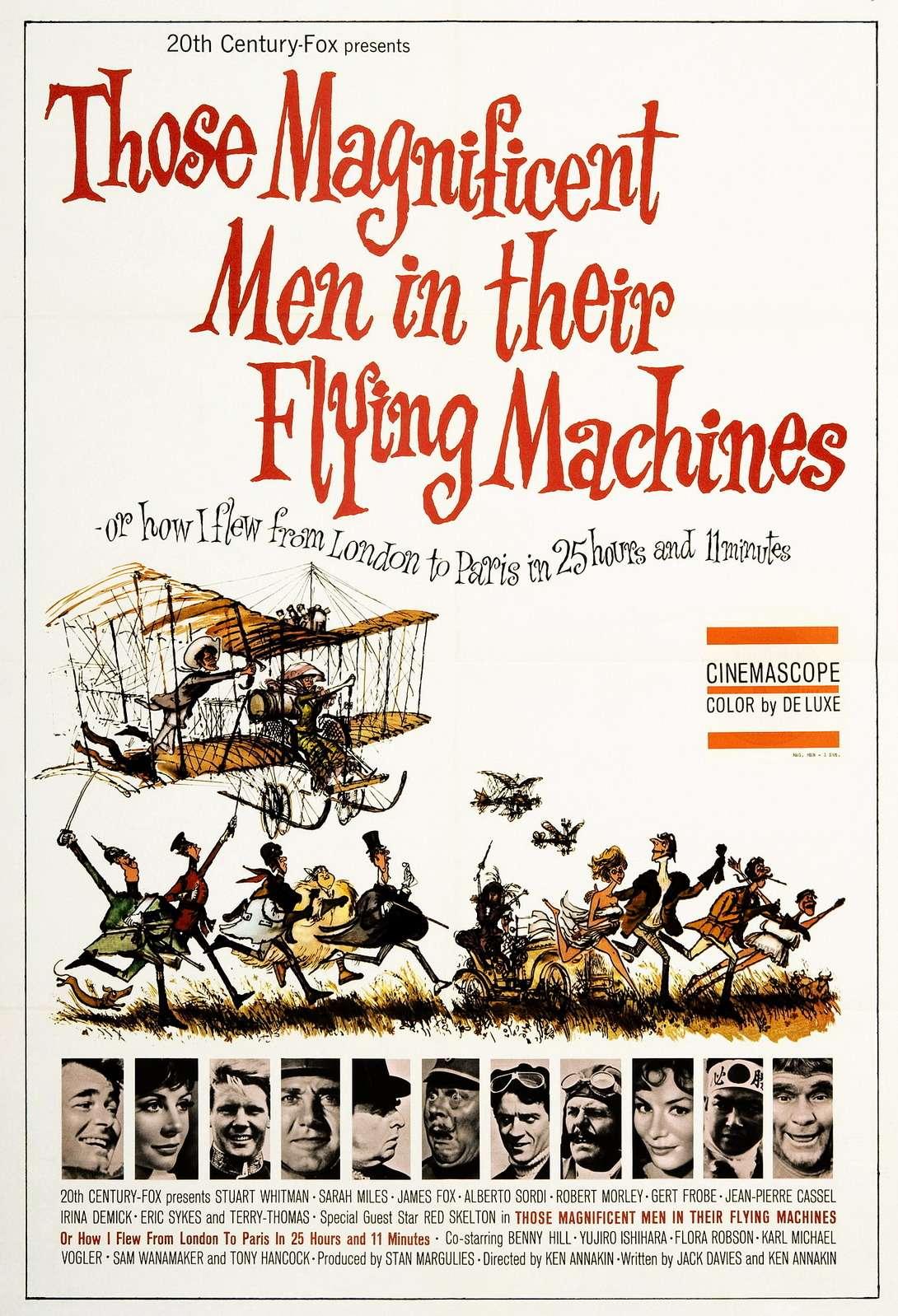 Автомобиль №60551— один изсимволов Великобритании. В1965 году его даже сняли водном изэпизодов ретро-комедии Those Magnificent men inTheir Flying Mashines, внашем прокате известной как «Воздушные приключения». Наснимке— постер кинокомпании 20th Century-Fox