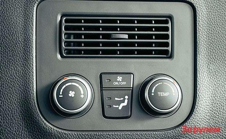 Hyundai Grand Santa FeВраспоряжении пассажиров третьего ряда свой блок управления «погодой».