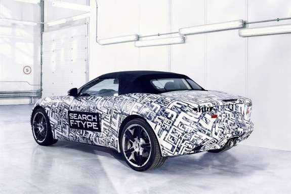 Jaguar F-type test prototype side-rear view