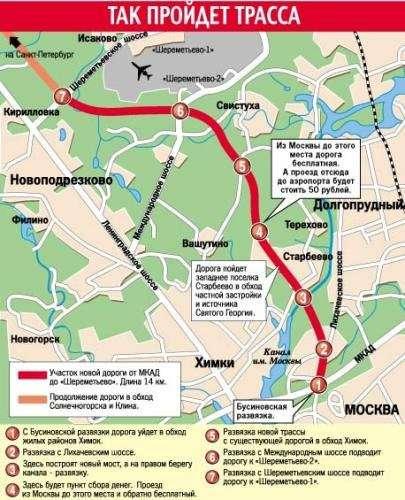 Трасса Москва-Санкт-Петербург пройдет через Химкинскийй лес.