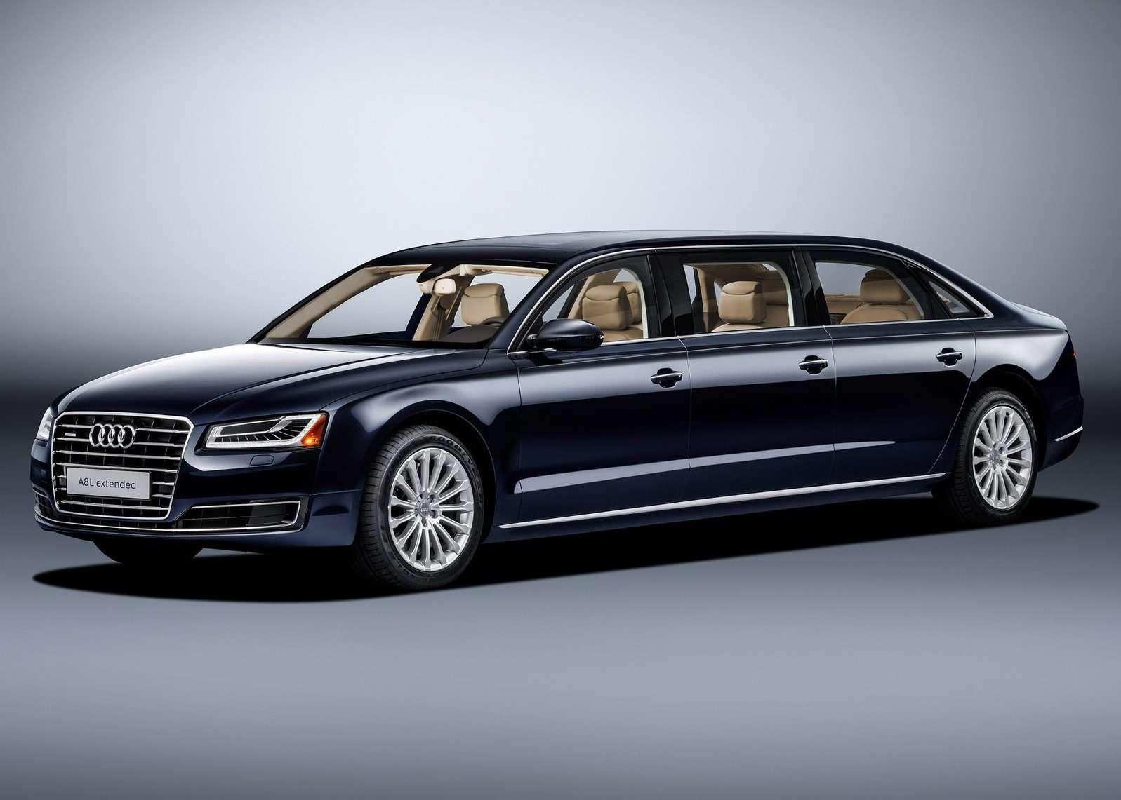 «Автобус» класса люкс: Audi A8 растянулся в угоду королевским запросам - фото 574390