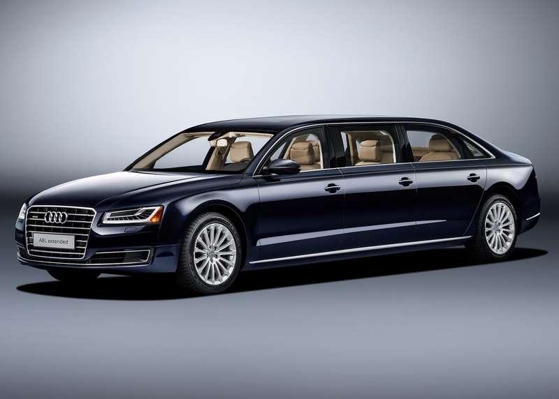 «Автобус» класса люкс: Audi A8 растянулся в угоду королевским запросам