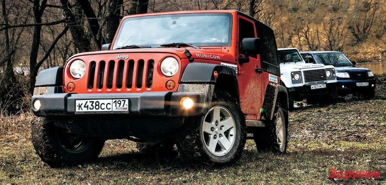UAZPatriot, Jeep Wrangler, Land Rover Defender