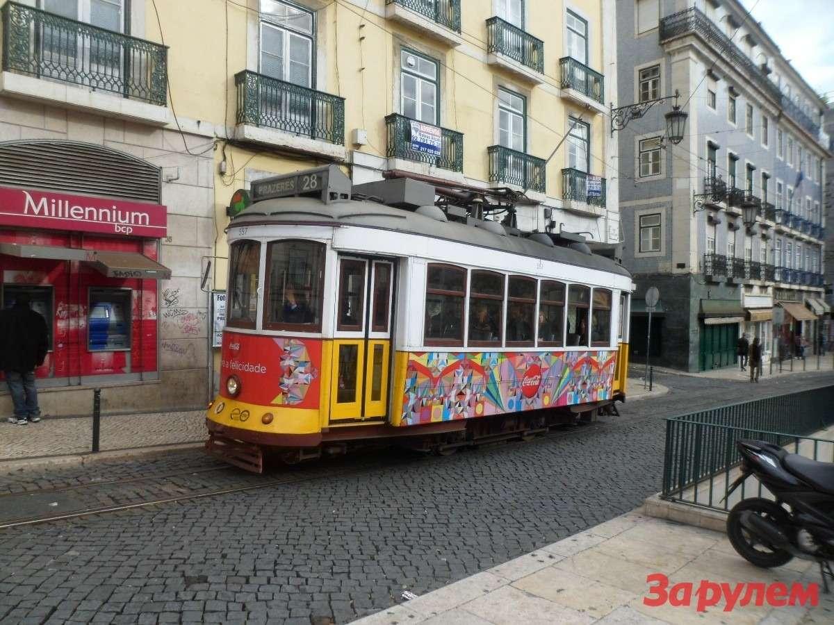Лиссабонцы ездят натрамваях уже больше века