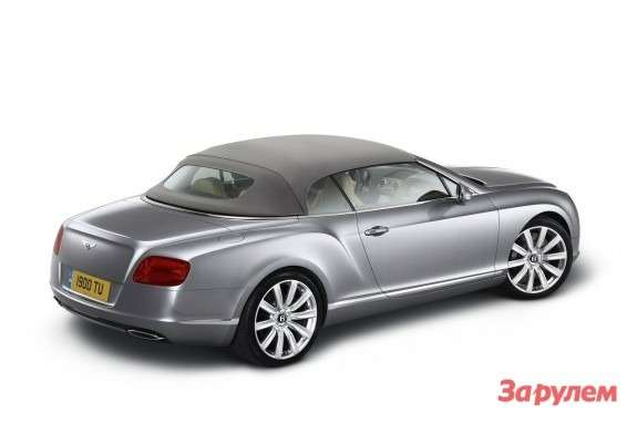 Bentley Continental GTC side-rear view 3