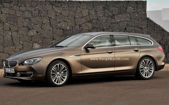BMW 6-Series Gran Touring rendering side-front view