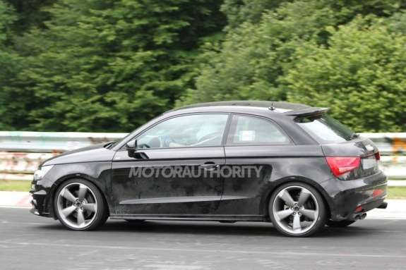 Audi S1 test prototype side view