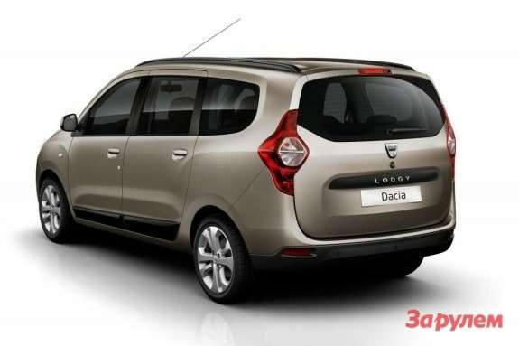Dacia Lodgy side-rear view