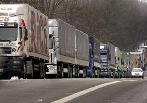 грузовики очередь
