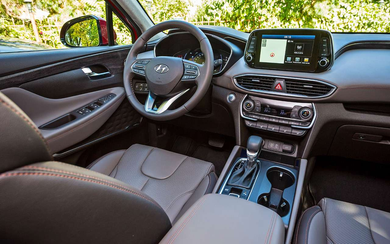 Тест нового Hyundai Santa Feскрутым автопилотом— фото 920448