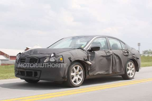2013 Honda Accord sedan test prototype side-front view