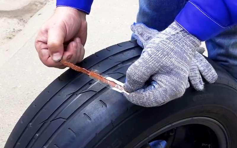 Ремонтируем прокол спомощью жгута— простая инструкция