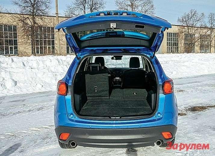 Mazda— 396л Полезный объем багажника уСХ-5 неплохой— 396л.