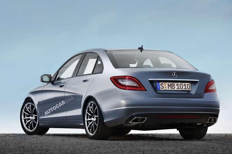 Next Mercedes-Benz C-class side-rear view rendering byAutocar_no_copyright