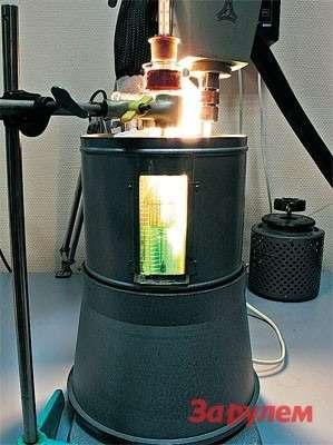 В этом устройстве ссолидным названием (прибор Баумана-Фрома) оценивают температуру начала кристаллизации охлаждающей жидкости поГОСТ 28084-89.