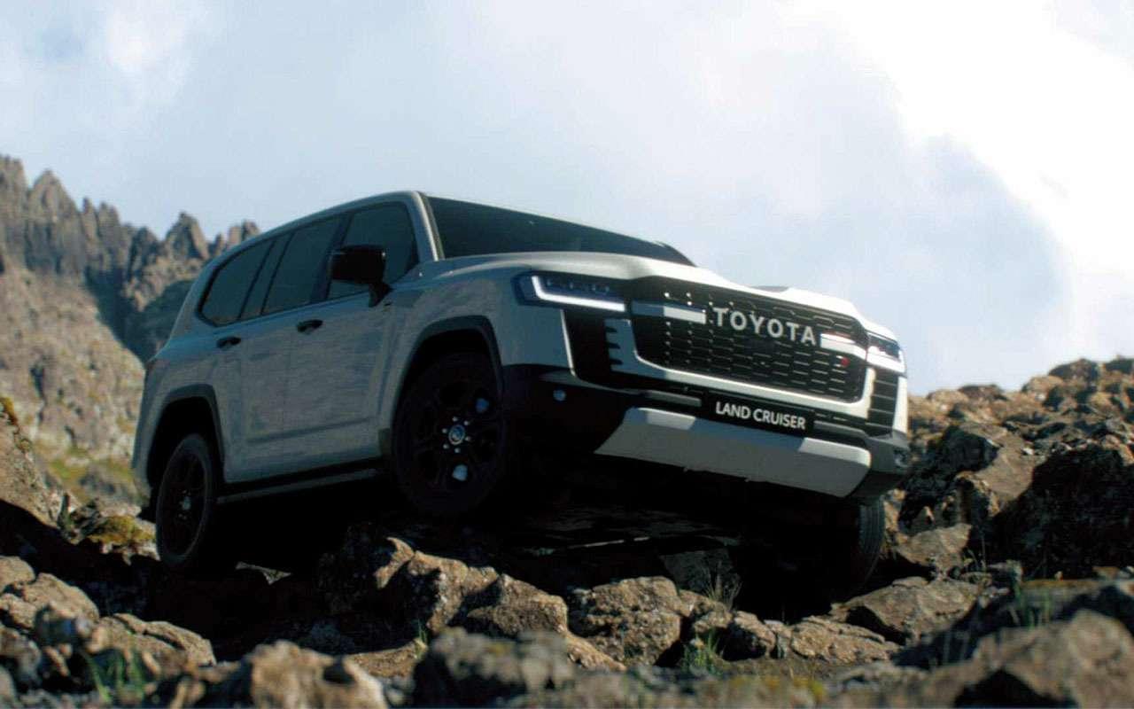 Toyota показала новый Land Cruiser на бездорожье  видео