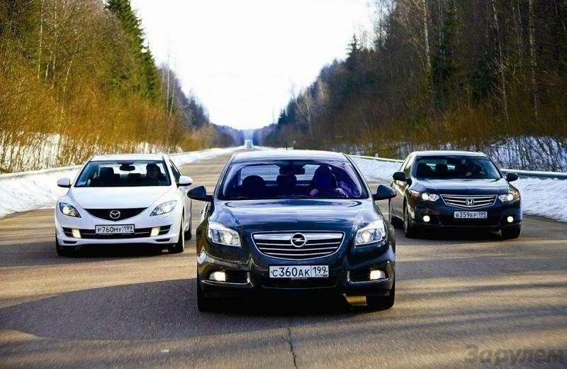 Тест Оpel Insignia, Mazda 6, Honda Accord: Чувство ритма— фото 93125