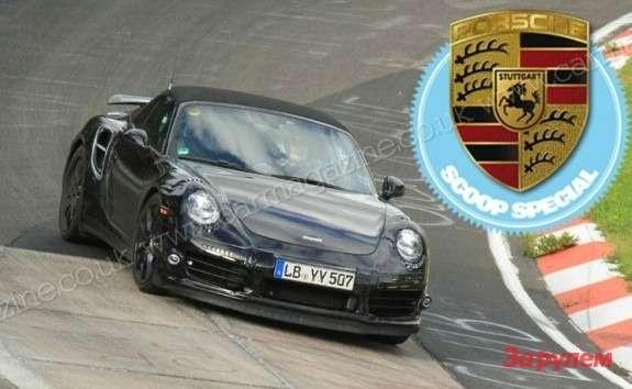 Porsche 911 Turbo Cabriolet front view