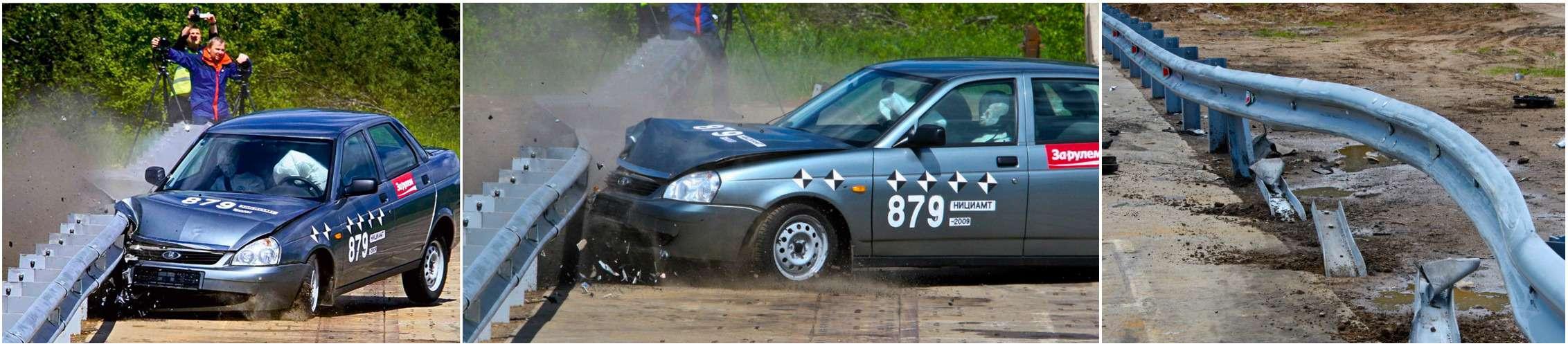 Краш-тест дорожных ограждений— 20тонн вотбойник!— фото 769769