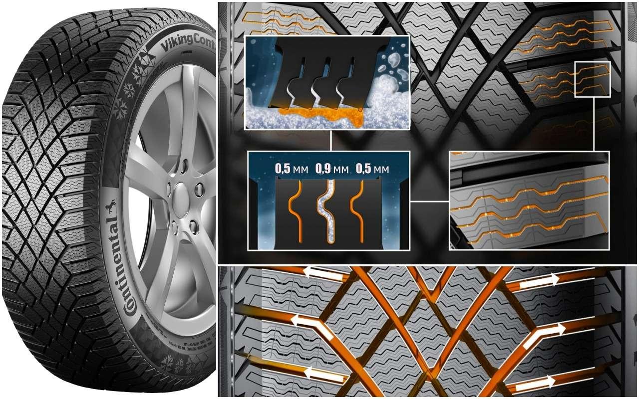 Выбираем зимние шины: без шипов, нос«когтями». Или с«карманами»?— фото 900938