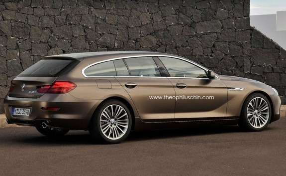 BMW 6-Series Gran Touring rendering side-rear view