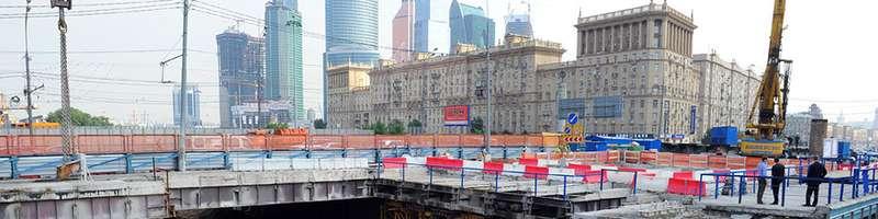Можайский путепровод столицы реконструируют доконца года