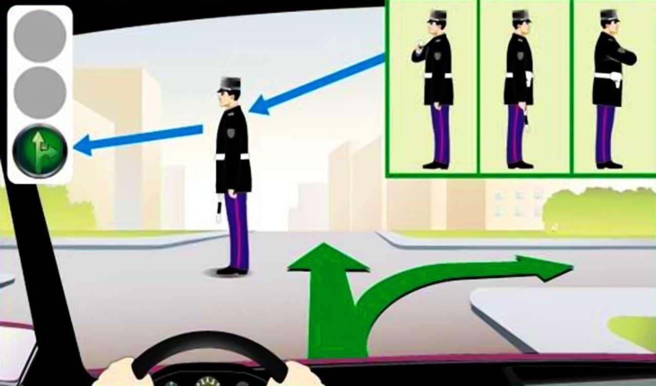Жесты, применяемые сотрудниками ДПС при регулировании дорожного движения— фото 879129