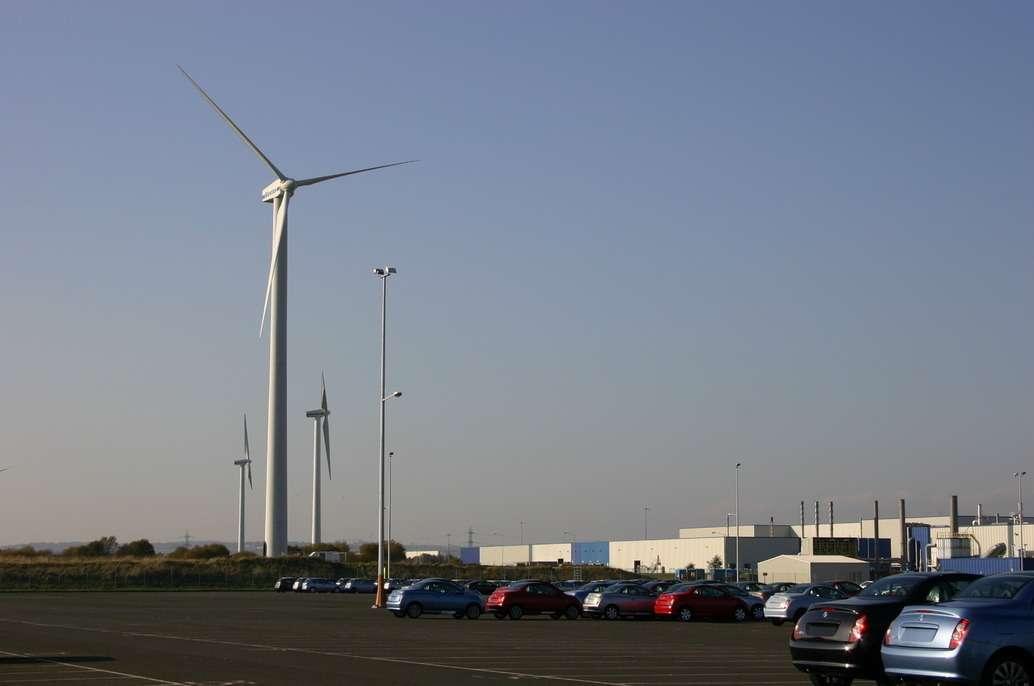 Завод Nissan Motor United Kingdom использует энергию ветра