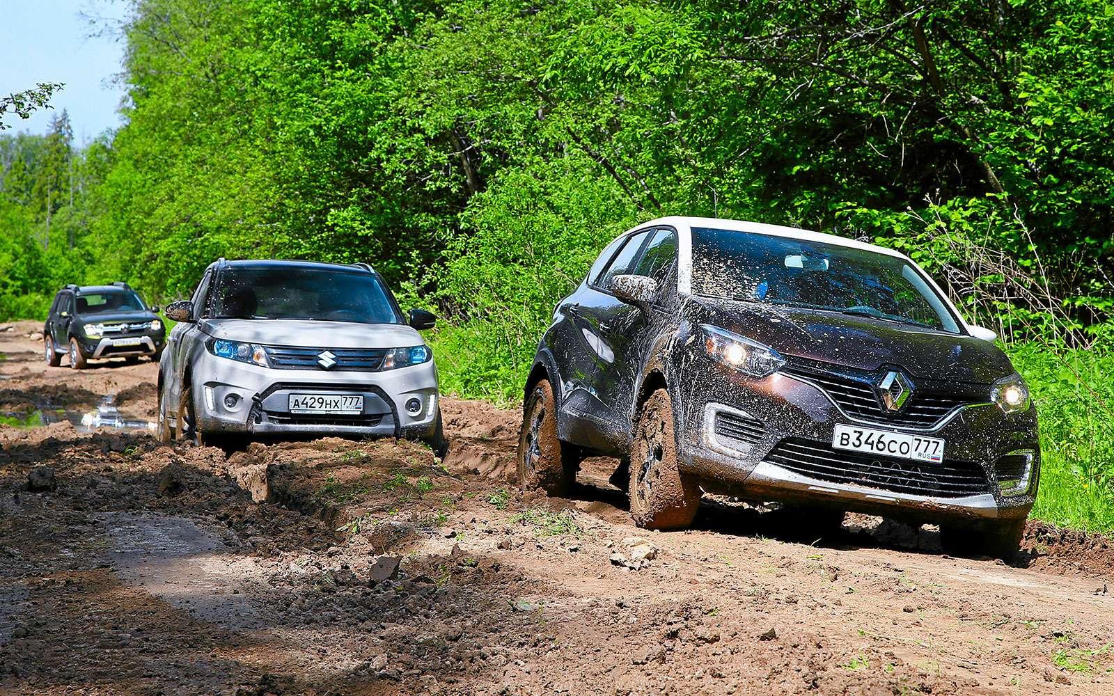 Renault Kaptur, Renault Duster, Suzuki Vitara: мода от-каптюр— фото 619976