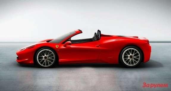 Ferrari 458 Spider rendering side view
