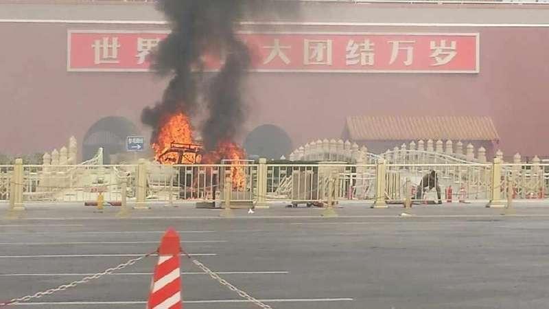 Водитель внедорожника, врезавшегося втолпу вПекине, мог совершить теракт