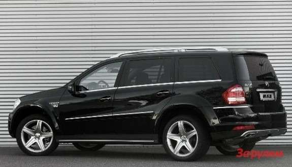 Mercedes-Benz GL-klasse with MKB P 670 package side view
