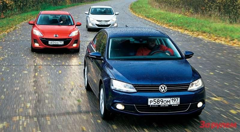 Mazda 3, Hyundai Elantra, Volkswagen Jetta