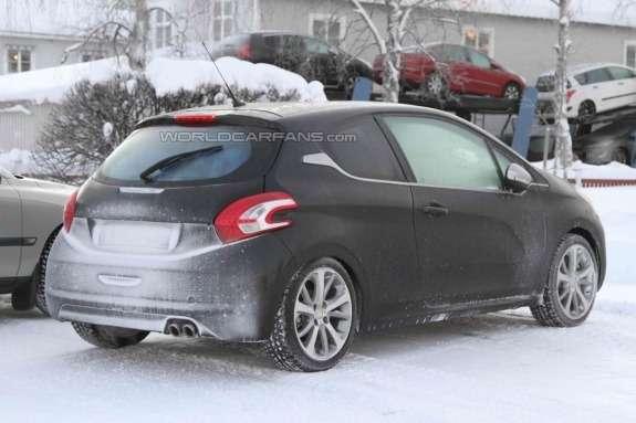 Peugeot 208GTi test prototype side-rear view