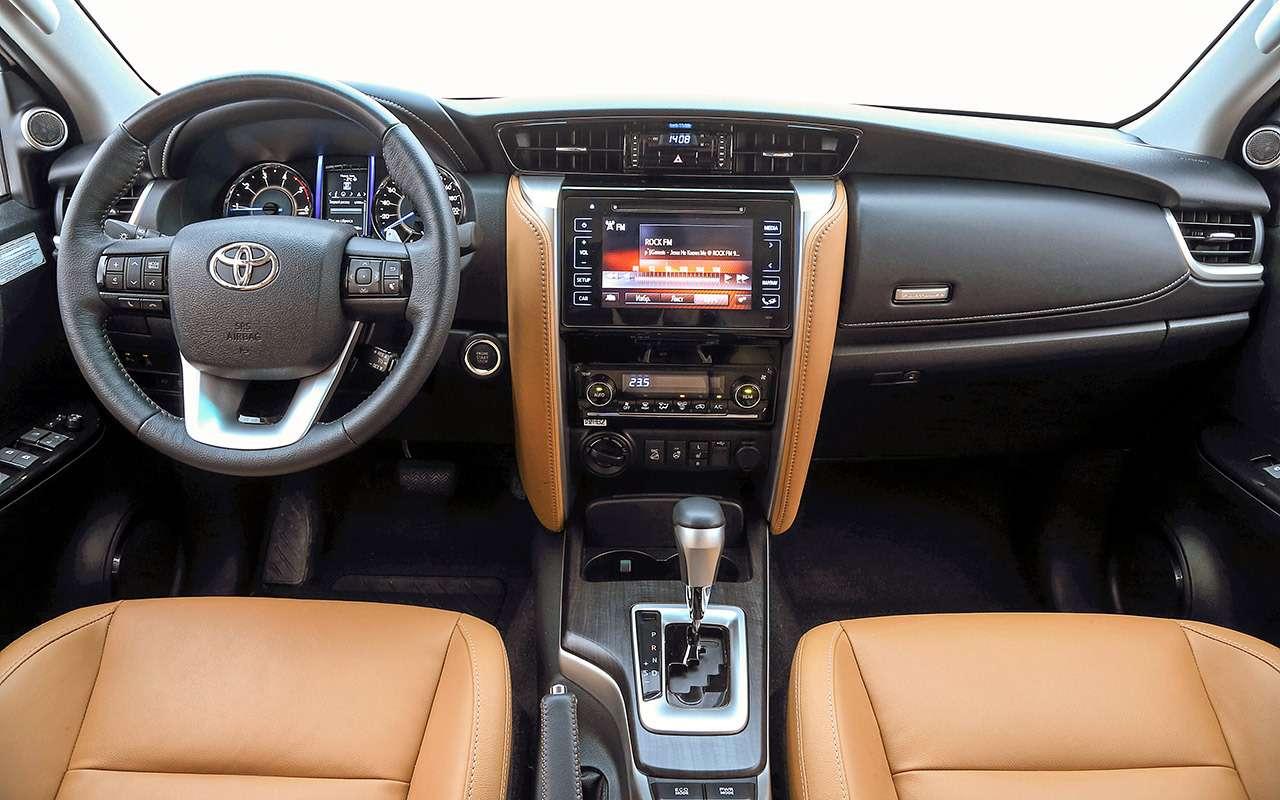 Toyota Fortuner, Mitsubishi Pajero Sport, Kia Mohave  — супертест — фото 855637