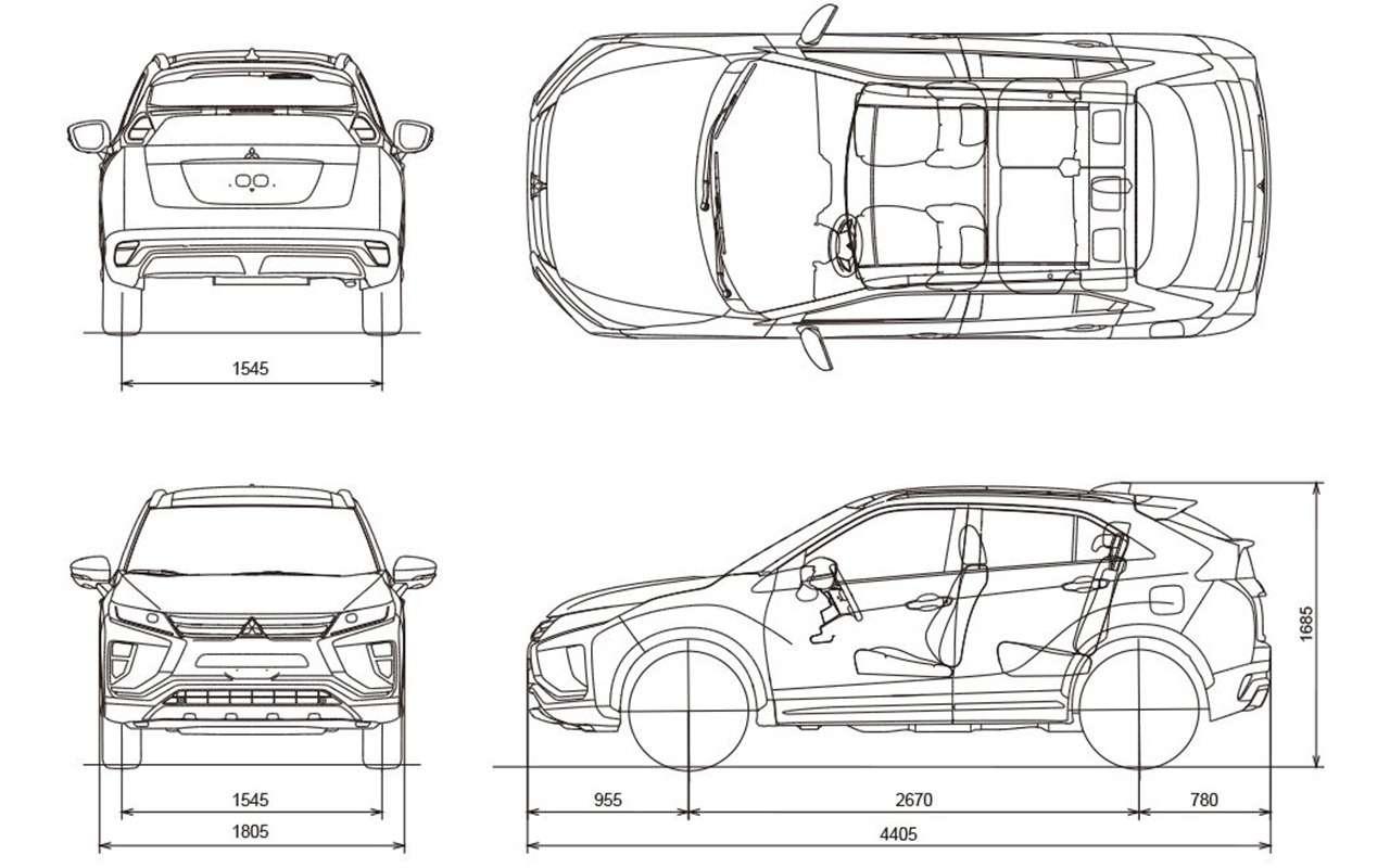 Как устроен кроссовер: все секреты Mitsubishi Eclipse Cross
